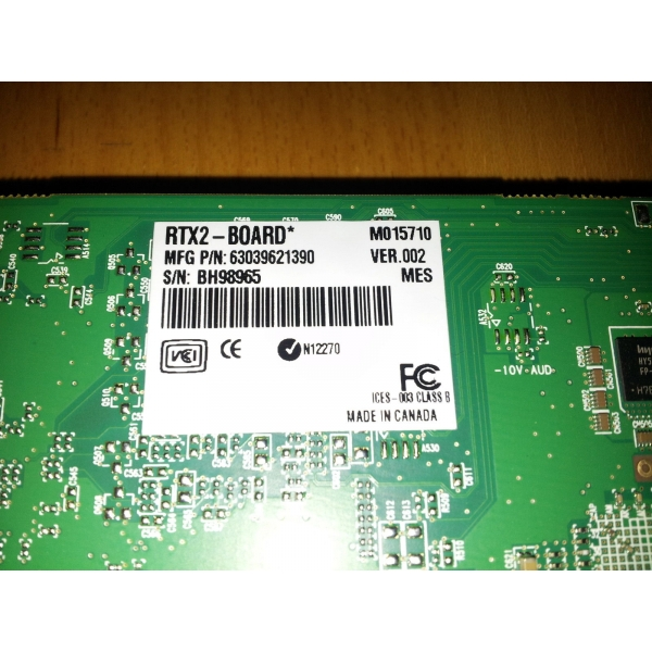 Tarjeta Edicion Video Matrox Rtx2 Board