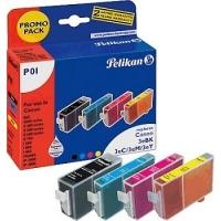 Pack 4 Cartuchos tinta NEGRO+3COLORES CANON 3eBK+3eC+3eM+3eY Pelikan P01